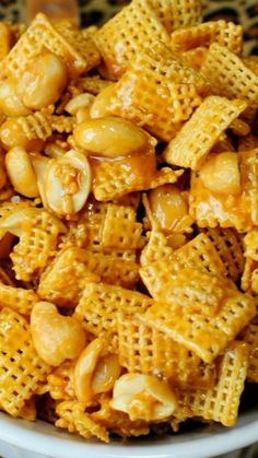 Payday Chex Mix ~ 5 MINUTES and 4 Ingredients!