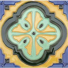 Solistone 10-Pack Hand Painted Deco Tile Multi Color Ceramic Indoor/Outdoor Wall Tile (Common: 6-in x 6-in; Actual: 6-in x 6-in)