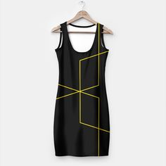 Black and Gold Simple Dress , Live Heroes Simple Dresses, Dresses For Work, Playing Dress Up, Fit Women, Live, Stylish, Gold, Black, Fashion