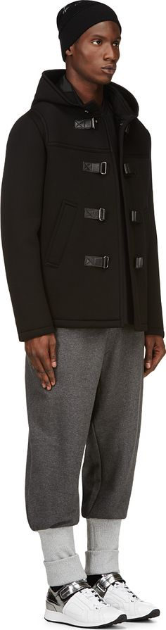 Y-3: Grey Ribbed-Trim Hero Lounge Pants