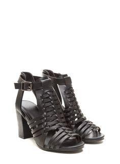 Boho Dreamer Woven Heels BLACK - GoJane.com