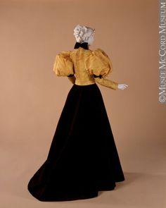 1894-1897 - Bodice - Silk taffeta with an all-over sprig design...