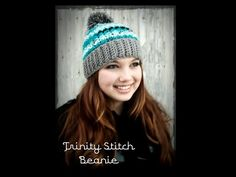 ▶ Crochet Hat: Trinity Stitch Beanie - YouTube