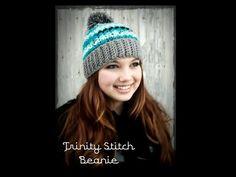 ▶ Crochet Hat: Trinity Stitch Beanie - YouTube