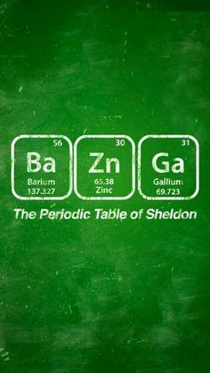 Periodic Table of Sheldon – Big Bang Theory Poster The Big Theory, Big Bang Theory Funny, Big Bang Memes, The Big Bang Therory, Big Beng, The Wolf Among Us, Non Plus Ultra, Funny Moments, Bangs