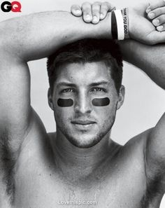 Tim Tebow shirtless naked photo from GQ magazine