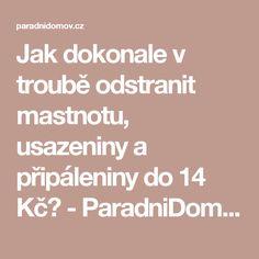 Jak dokonale v troubě odstranit mastnotu, usazeniny a připáleniny do 14 Kč? - ParadniDomov.cz