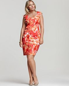 Jones New York Collection Floral-Print Sheath Dress