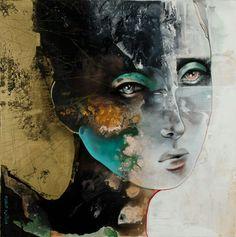 Por amor al arte: Pascale Pratte Magical Pictures, Alberto Giacometti, Watercolor Portraits, Portrait Paintings, Arts Ed, Fantasy Artwork, Face Art, Contemporary Artists, Mixed Media Art