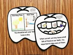 Dental Health Month Activities for Kindergarten - Mund- und Zahngesundheit 2020 Dental Health Month, Oral Health, Dental Hygiene, Dental Care, Dental Teeth, Hygiene Lessons, Teaching Calendar, Body Preschool, Health Unit