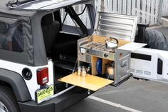 Expedition Idea, Jeep Kitchen, Overlanding Kitchen, Camp Kitchen Box, Cool Ideas, Jeep Expedition, Jeep Overlanding