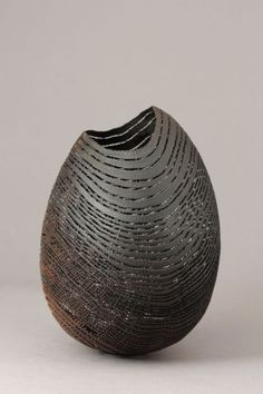 Pascal Oudet awarded Grand Prix de la Création de la Ville de Paris 2012 : Egg 181 C12, Sandblasted, ebonised, pedunculate oak