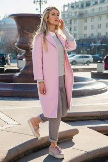 Пальто-баллон с укороченным рукавом, розовое Fashion Confession