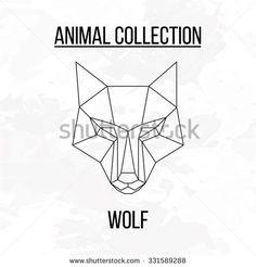 wolf bear geometric - Google Search