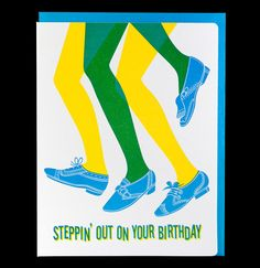 Steppin' Out birthday by dudeandchick on Etsy