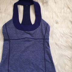 Lululemon Scoop Neck Tank Gently used. Dried in dryer. Cup inserts not included. lululemon athletica Tops