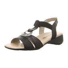 NEU: Remonte Sandaletten R5273-01 - schwarz kombi -