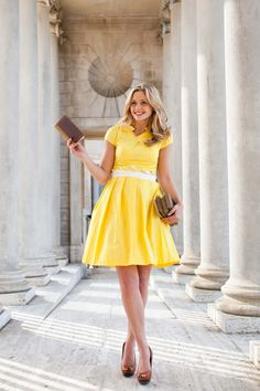 Champs Elysees Dress Yellow | Shabby Apple