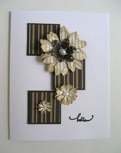 corugated, paper flowers