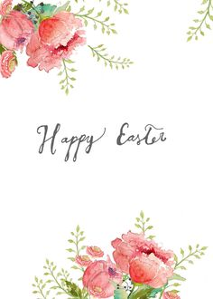 Free Watercolor Easter Printables.