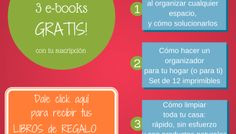 Mi Casa Organizada te regala 3 libros electrónicos GRATIS!