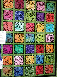This is so gorgeous. Looks like woodcuts. It was shown at the Quilts in the Valley quilt show in Abbotsford. If anyone knows who made this creation (I understand it was a collaborative effort), please let me know so I can give credit.