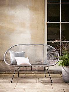 Indoor Outdoor Grey String Bench. cox & cx