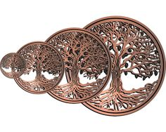 Wall or Table Sculpture Copper or Silver by RedTailCrafters
