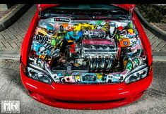 Jdm That bay! Honda Vtec, Honda Civic, Supercars, Civic Eg, Honda Cars, Import Cars, Sticker Bomb, Love Car, Japanese Cars