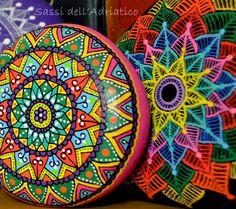 Hand Painted Stone Mandala by ISassiDellAdriatico on Etsy
