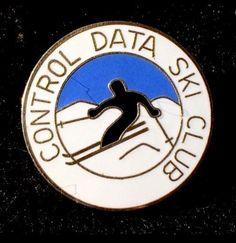 CONTROL DATA SKI CLUB Skiing Pin Super Computer Co 1957-92 Minnesota Souvenir  | eBay