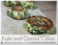 glutenfree kale and quinoa cakes more quinoa cakes side healthy ...