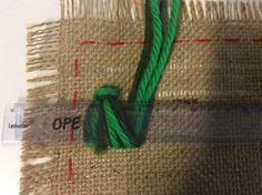 Käsityöohje Rya Rug, Embroidery Stitches, Knots, Needlework, Burlap, Teaching, Rugs, Crochet, School Stuff