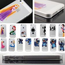 transparent cartoon Pattern Cute PC back Case Cover For iPhone 4S 5 5S 6 6 plus