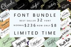Font bundle with wonderful script fonts! Calligraphy Fonts, Script Fonts, Typography Fonts, All Fonts, Lettering, Smart Program, Character Map, Vintage Fonts, Brush Font