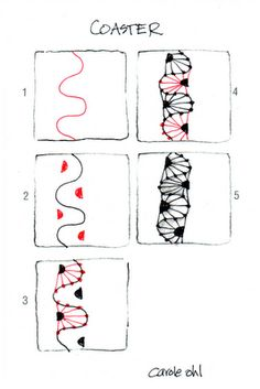 Zentangle pattern Coaster