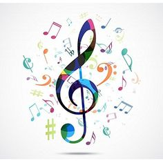 Illustration about Illustration of Abstract background Colorful music notes. Illustration of piano, billboard, composition - 49587898 Music Tattoo Designs, Music Tattoos, Music Notes Art, Art Music, Music Notes Decorations, Mothers Day Drawings, Music Notes Background, Music Symbols, Music Drawings
