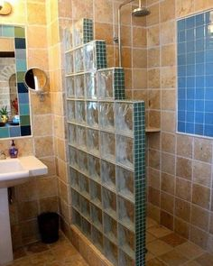 best bathroom remodel ideas on a budget that will inspire you 1 ~ mantulgan. best bathroom remodel ideas on a . Bathroom Design Small, Bathroom Interior Design, Modern Bathroom, Downstairs Bathroom, Bathroom Layout, Bad Inspiration, Bathroom Inspiration, Glass Block Shower, Shower Remodel