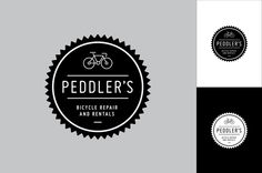 Bike Repair Logo Design Template - This bike repair logo framed within a crankset badge is a great way to let people know that you're serious about cycling.