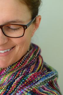 This shawl pattern is designed to use one skein of Yowza and is perfect for variegated yarns!