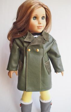 #Cloak #18-inch dolls, #LeatherCoat #Clothes #leather Casual clothes for dolls, #Journeygirl #Americangirl Clothing #18indoll #AG #doll #stuff #petslair