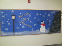 Always Put Together - Phase 2 of the Winter bulletin board at church. Added snowflakes, a snowman and spray snow.