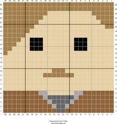 Remus Lupin square   Stitch Fiddle