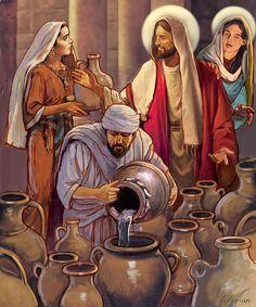 【主イエス・キリスト 主耶穌基督 Lord Jesus Christ】 Miracle At Cana Painting by Valer Ian Jesus Christ Painting, Jesus Art, Bible Pictures, Jesus Pictures, Christian Images, Christian Art, Catholic Art, Religious Art, Religion