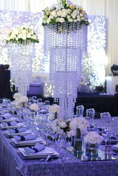 Chandelier and glitters  #wedding