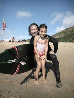 Eddie Vedder and his little princess.