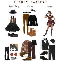 Freddy Fazbear by ineeda on Polyvore featuring moda, Tory Burch, OBEY Clothing, Ted Baker, Yves Saint Laurent, Maison Margiela, UGG Australia, Sam Edelman, Eddie Borgo and Freena