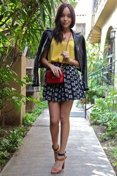 Ring My Bell, Ashley, outfit of the day, street style, skirt, heels, style, fashion