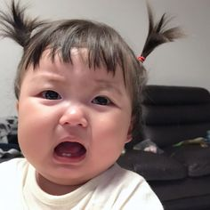 Cute Baby Meme, Funny Baby Memes, Funny Babies, Cute Asian Babies, Korean Babies, Asian Kids, Cute Baby Girl Pictures, Baby Photos, Cute Little Baby