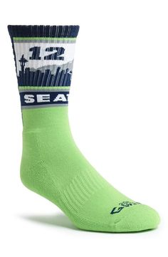 Love! 'Seattle Seahawks 12th Man' socks.